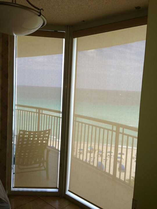 Miami beach roller shade project manufacturers of custom for Window treatment manufacturers