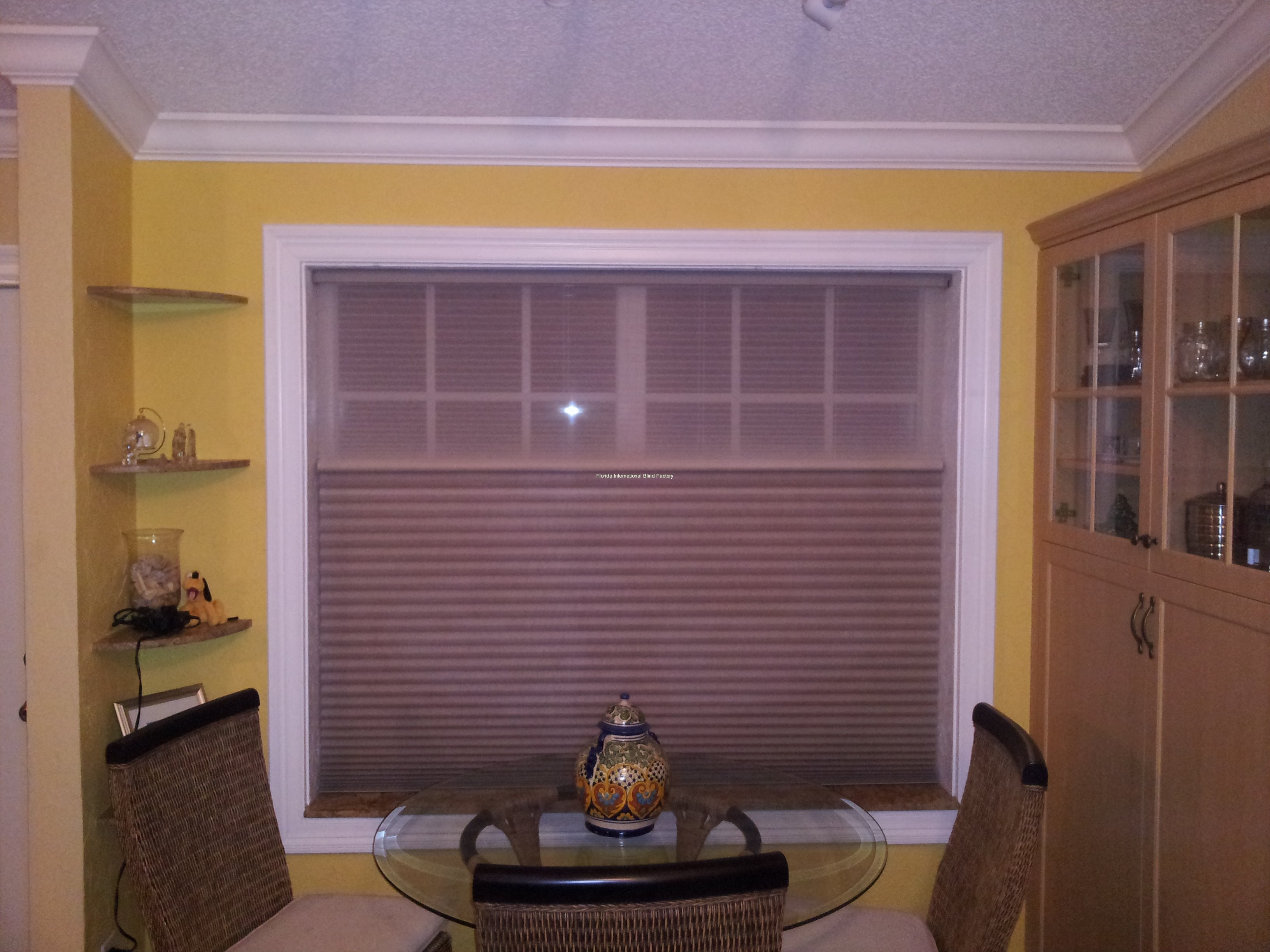 Hunter Douglas Motorized - Blackout Half Closed