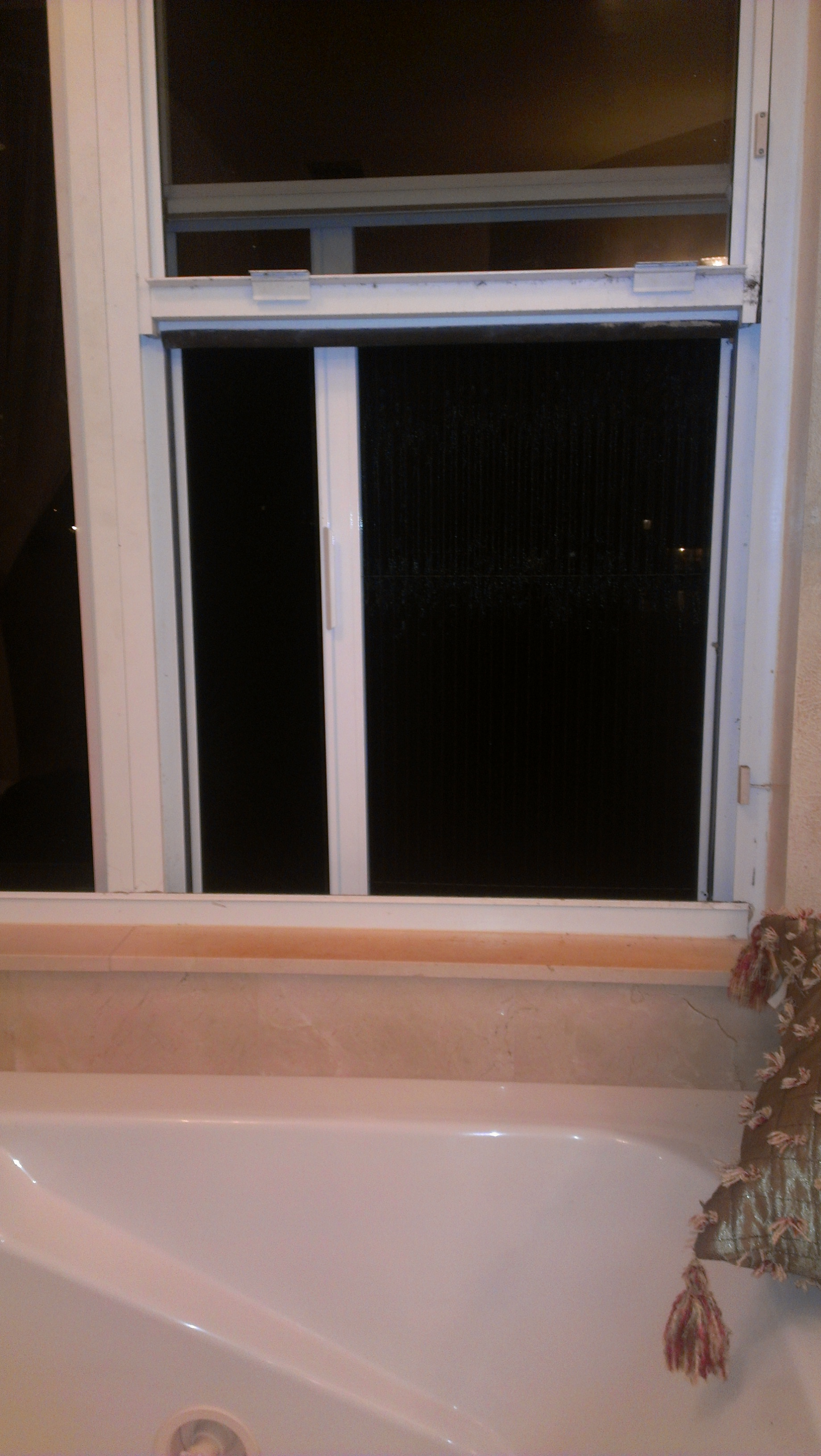 Retractable Screen - Bathroom