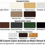 Retractable Screen Colors