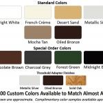 Retractable Screen Colors