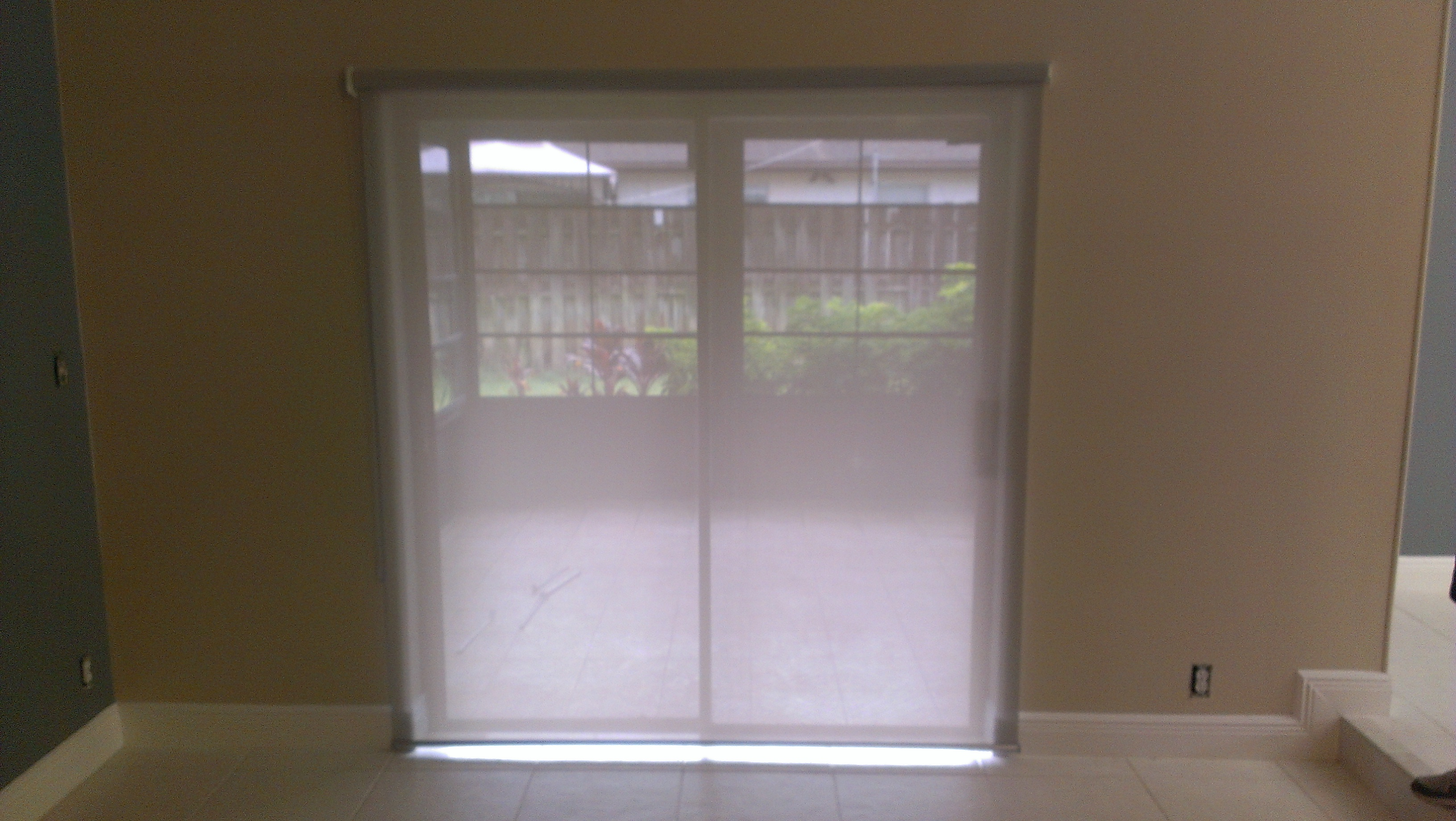 Sliding Glass Door Roller Shade 5 White Grey