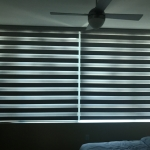Gray Room Darkening Zebra Shade