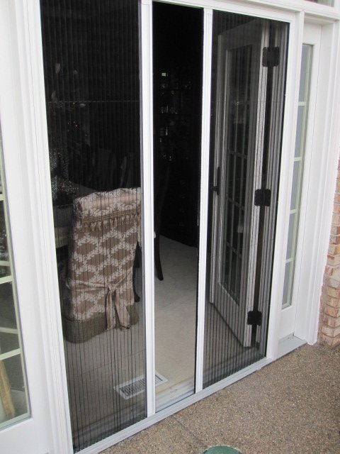 Retractable screen doors and windows for your home for French doors with screens built in